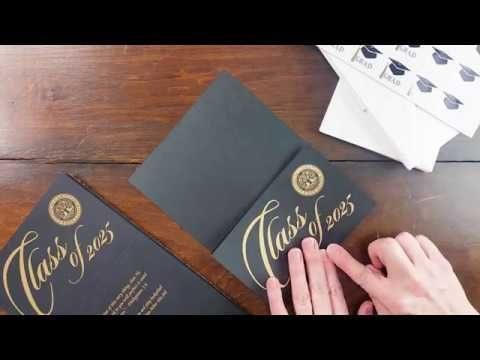 How to Fold your Black or Navy Tri-fold Graduation Cards   #announcement #invitation #card #homeschool #graduationannouncement #graduationinvitation #highschoolgraduation #homeschoolannouncement #homeschoolgraduationannouncement #homeschoolgraduationinvitation #homeschoolinvitation #bibleverse #quote
