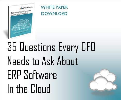 Check out this Q for CFOs considering ERP solutions in the cloud