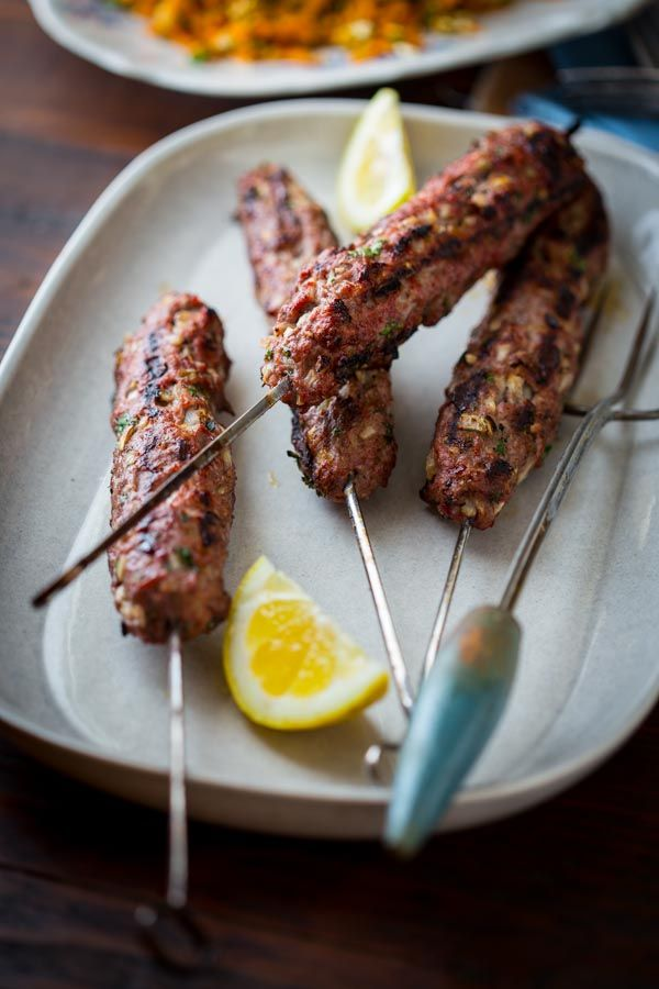 grilled lamb kofta kebabs