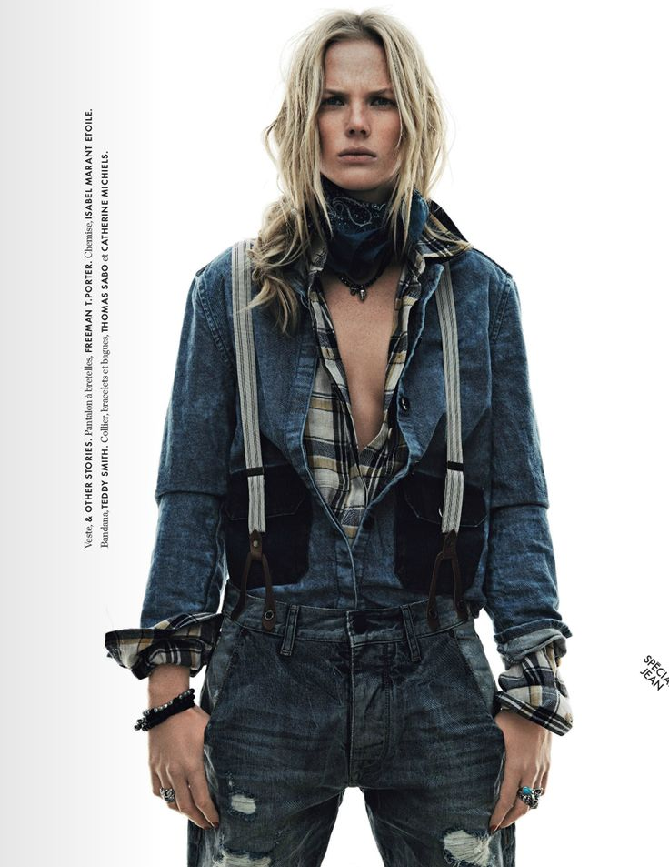 visual optimism; fashion editorials, shows, campaigns & more!: blanc/bleu: anne vyalitsyna by jan welters for elle france 7th march 2014