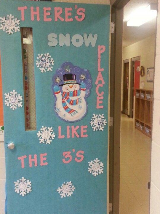 3 yr old preschool winter door.