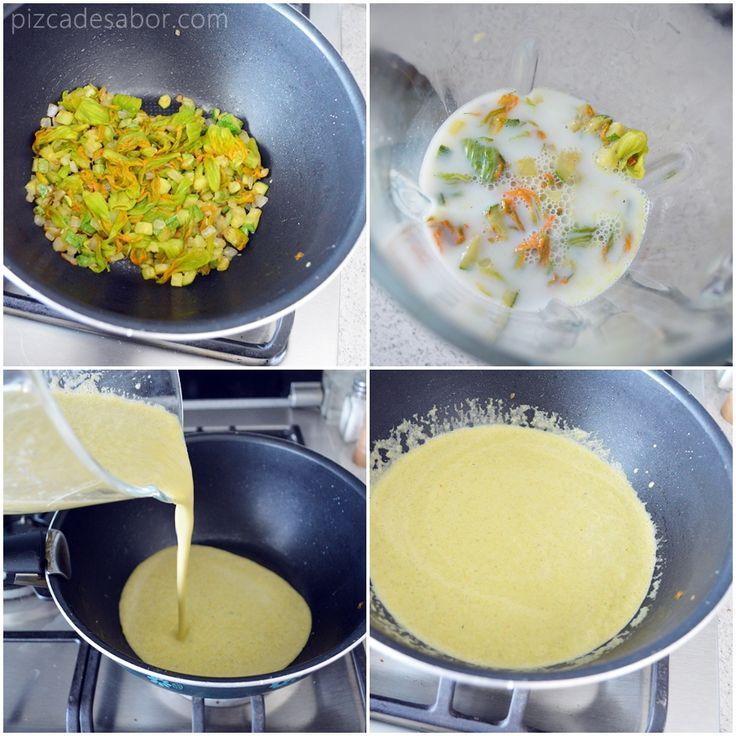 Sencilla y deliciosa crema de flor de calabaza y calabacita. Está lista en menos de 20 minutos, perfecta para los días apurados y fríos que se antoja una sopa o crema caliente.