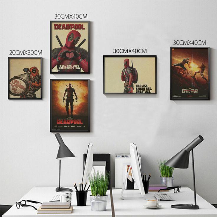 Posters Deadpool Deadpool Marvel superhero Meng cheap decorative sticker Ryan Reynolds Movies & Videos #Affiliate