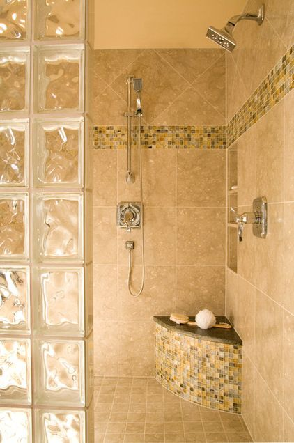glass block bathroom ideas colored glass block shower traditional bathroom by 17875