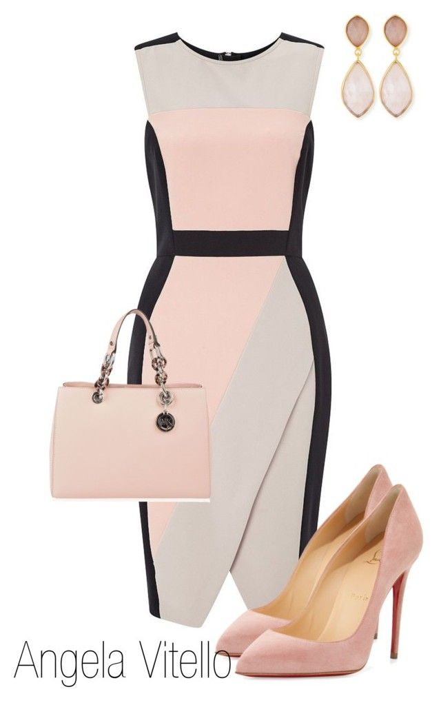 Untitled #693 by angela-vitello on Polyvore featuring polyvore, fashion, style, Miss Selfridge, Christian Louboutin, MICHAEL Michael Kors, Dina Mackney and clothing