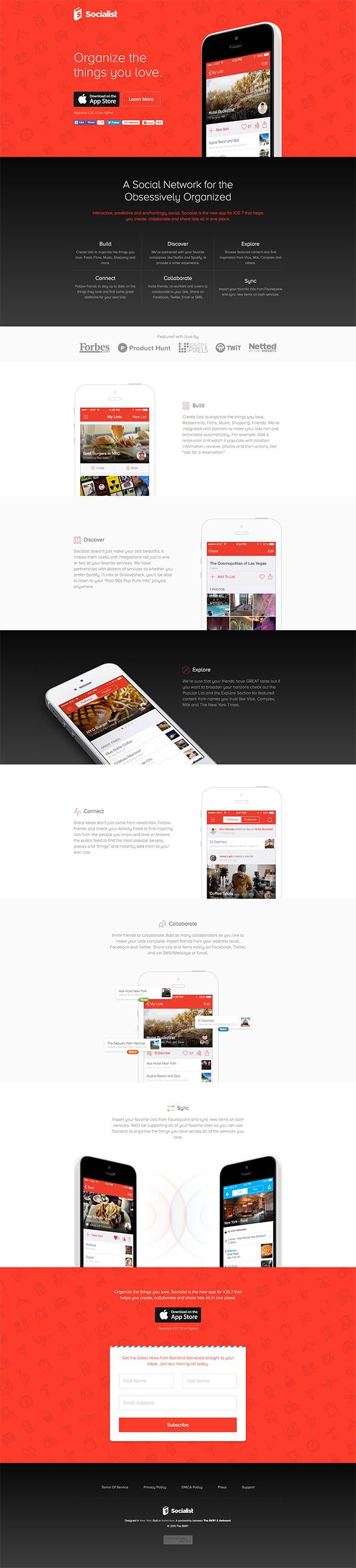 Organize The Things You Love | Landing Page Design Inspiration