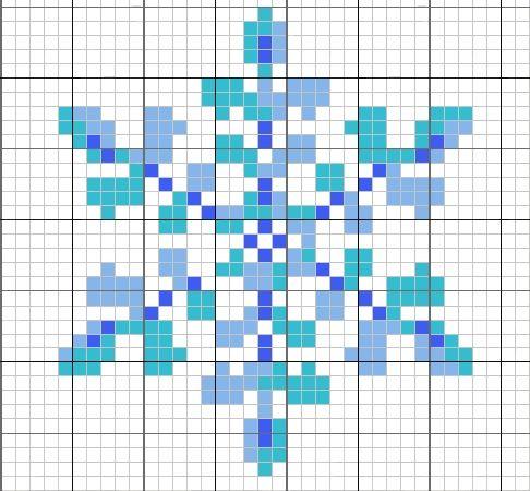 point de croix, grille gratuite flocons, modèle flocon, grille neige, cross stich snow