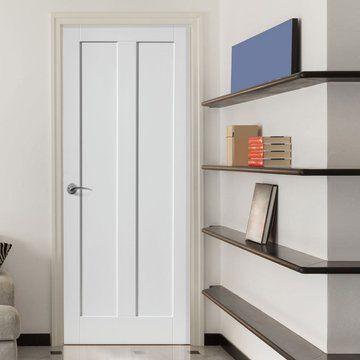 JB KIND Barbados White Primed Door  - Lifestyle Image