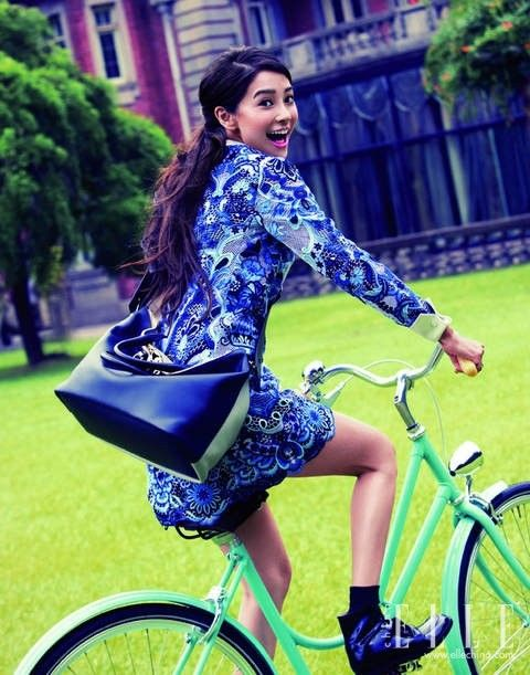 Angelababy in Valentino dress for ELLE China