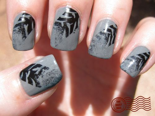 tire tracks :) my nails will be painted like this for the demo derby ;) ha
