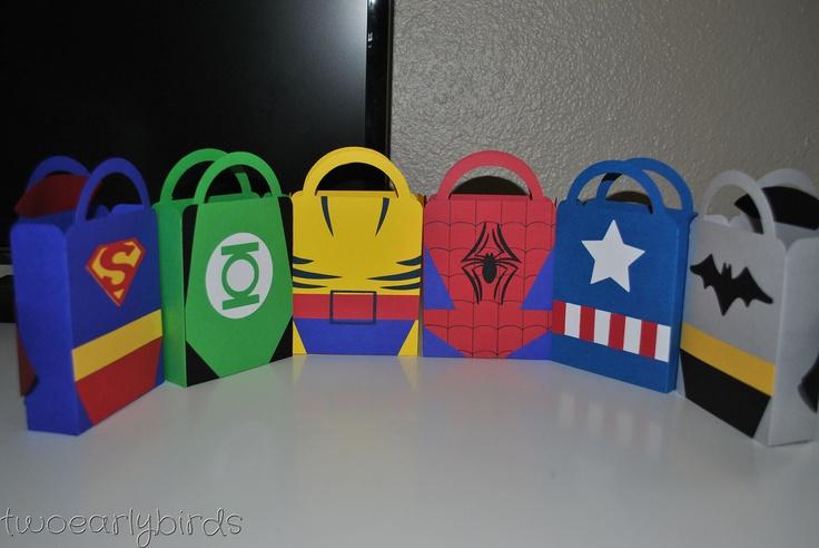 Superhero Party Favor bags. via Etsy.