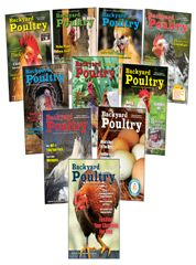 10 Select Backyard Poultry Back Issues For $20. FREE Shipping.