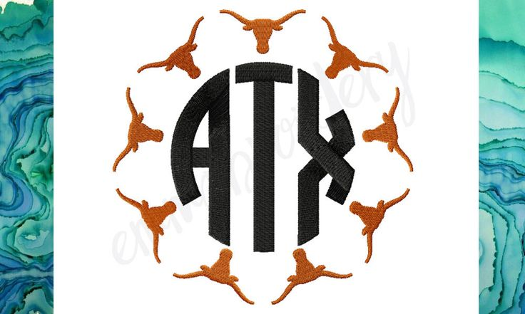 5 Sizes UT Longhorn Monogram Frame - University of Texas Longhorns - Machine Embroidery Design - Instant Download - 8 Formats PES JEF by emmabroidery on Etsy https://www.etsy.com/listing/541856697/5-sizes-ut-longhorn-monogram-frame