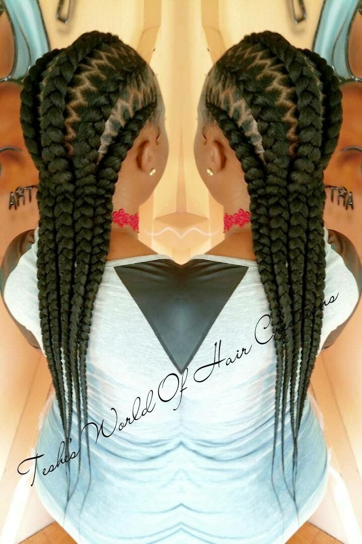 Braid cornrow stitch braiding  @teshesworldofhaircreations
