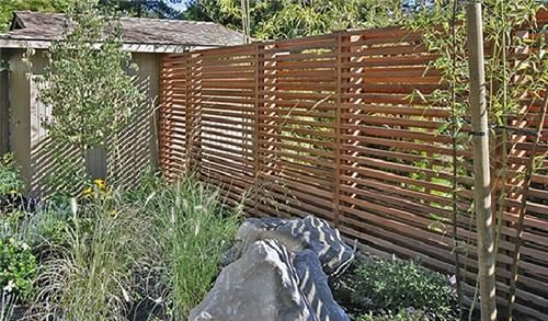 Cool horizontal fence