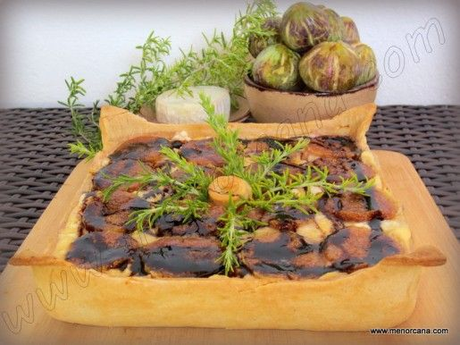 TARTA SALADA HIGOS 1 | Pasteles y tartas saladas | Pinterest