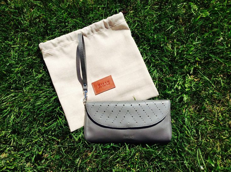 Gray wallet and clutch. 2 in 1. Handmade by Renata Balasova ( BALAS).