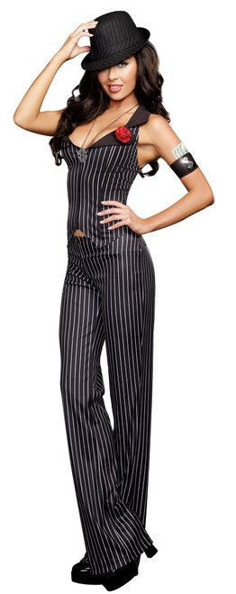 Crime Time Gangster Ladies Costume - The Costume Shoppe