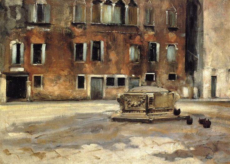 Campo San Agnese, Venise - John Singer Sargent