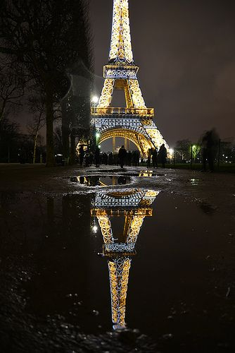 Reflections of Paris. I never get tired of seeing the Eiffle tower. never!