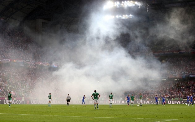 Ireland Croatia in Poznan Euro 2012