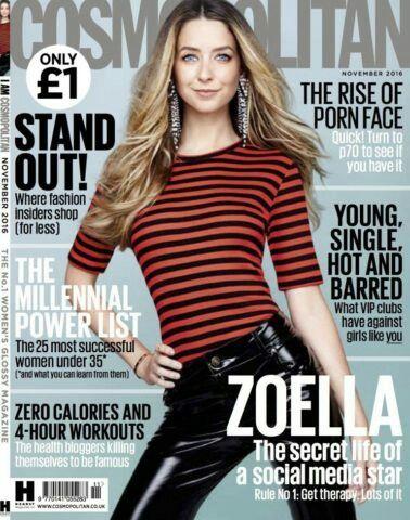 Zoella sugg Queen youtuber Star #zoella cosmopolitan november