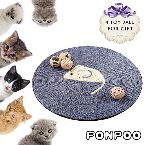 Cats are elegant and leisure, cats are cute and naughty, cats are either friendly nor aloof, cats worth your true heart and true love. Grinding paws are their natural instincts.FONPOO cat scratcher protects your furry fellow with practical actions The sisal fiber carefully protects your... more details available at https://perfect-gifts.bestselleroutlets.com/gifts-for-pets/for-cats/product-review-for-cat-scratcher-by-fonpoo-exclusive-version-hand-made-round-sisal-hemp-scratch