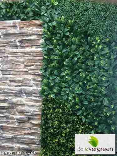 Follaje plantas muro verde enredadera artificial for Decoracion con plantas exterior