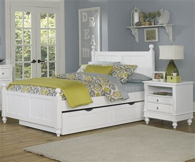 1025 and 1570 Kennedy Full Bed White finish with trundle | Lakehouse collection | NE Kids Furniture in White $814. free shipping - full size