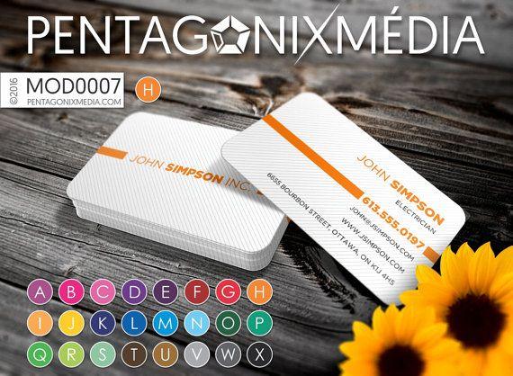 MOD0007 Cartes d'affaires / Cartes de visite par PentagonixMedia