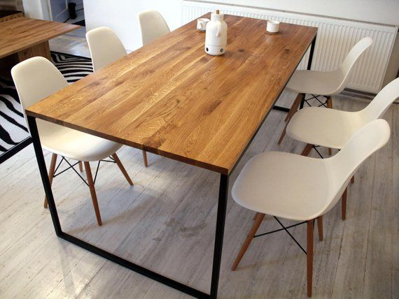 Steel Frame Dining Table Basic Nio Ii Modern Industrial Tables