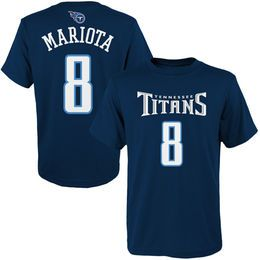 Youth Tennessee Titans Marcus Mariota Navy 2015 NFL Draft Mainliner Name & Number T-Shirt