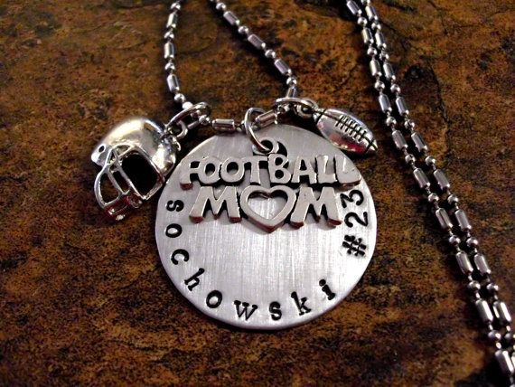 Personalized Football Mom Necklace Sports Jewelry by CharmAccents, $23.00