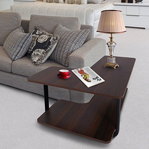 Incredible Lifewit 2 Tier Couch Side End Table L Shape Huge Capacity Ibusinesslaw Wood Chair Design Ideas Ibusinesslaworg