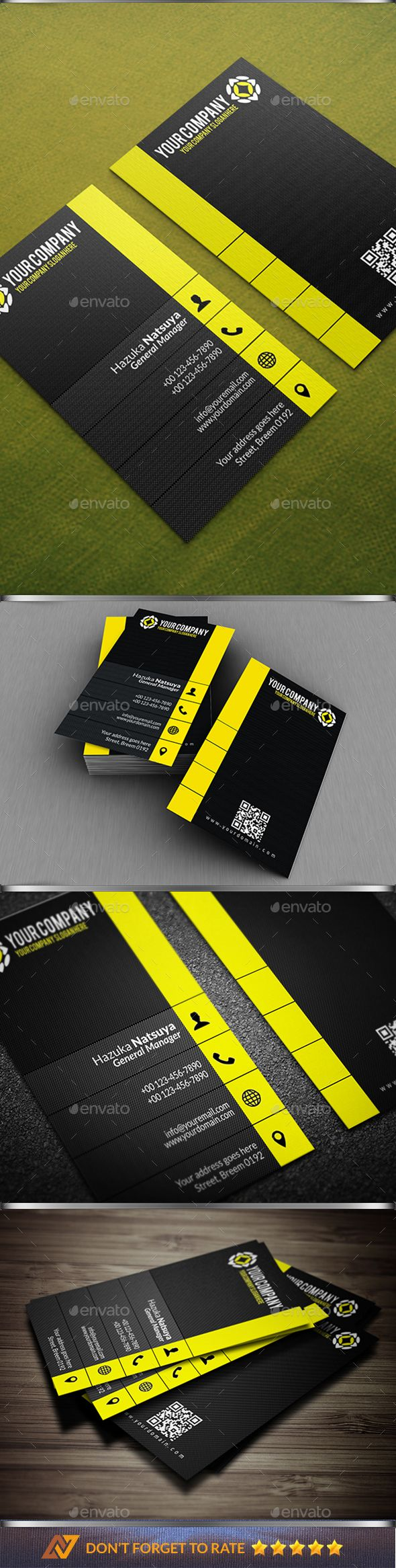 Modern #Corporate #Business #Card Vol. 4 - Corporate Business Cards Download here:  https://graphicriver.net/item/modern-corporate-business-card-vol-4/20339600?ref=alena994
