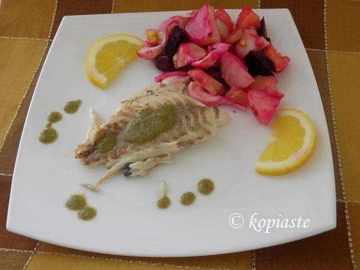 My Mom's Beet Salad and Tsipoura (Gilthead Sea Bream)