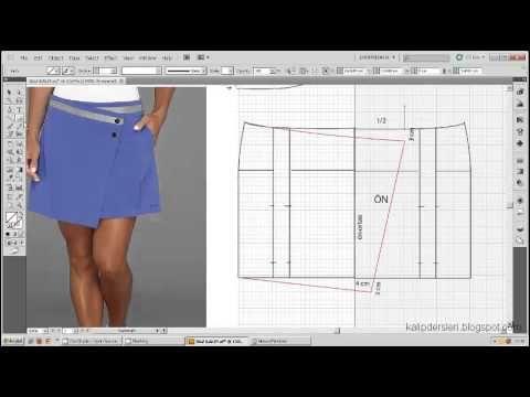 Model uygulamalı elbise kalıbı 9 / The model applied dress pattern 9 - YouTube