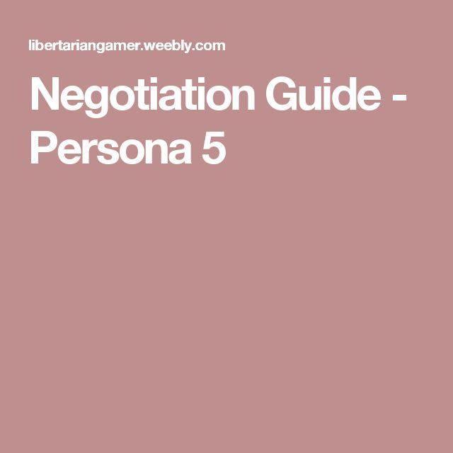 Negotiation Guide - Persona 5