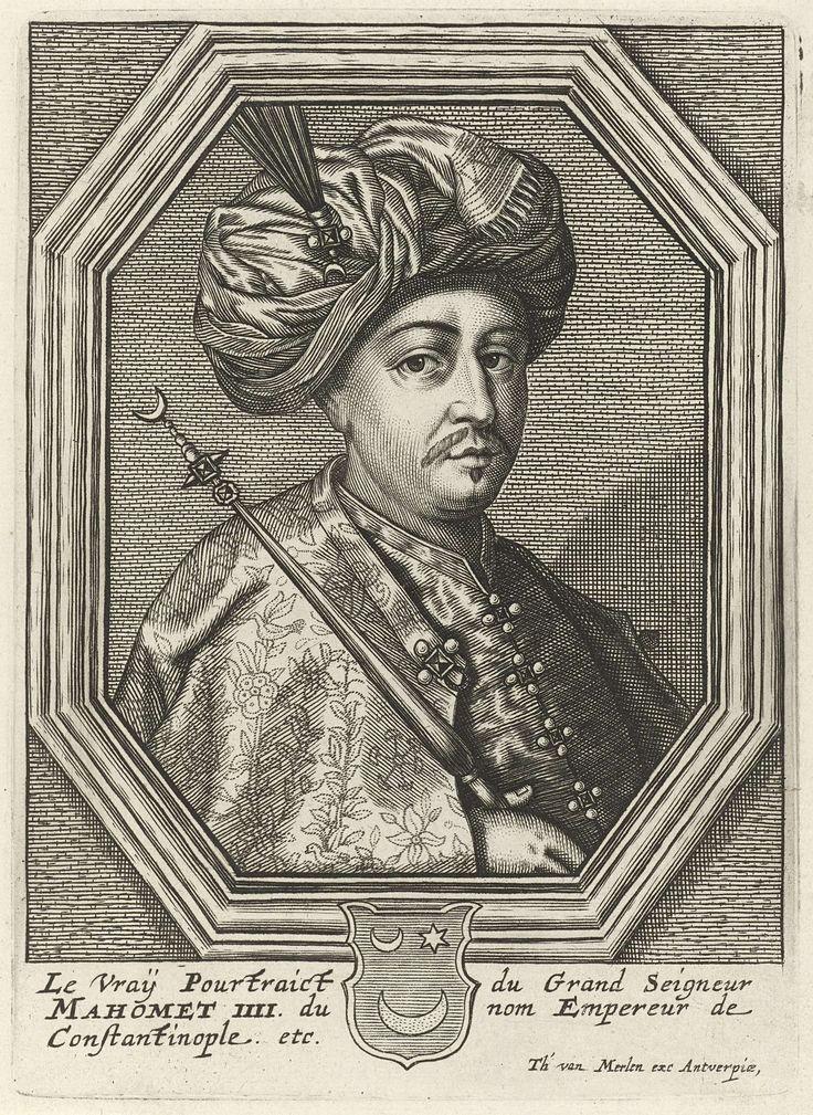 Portret van sultan Mehmet IV van het Ottomaanse Rijk, Theodor van Merlen (II), 1619 - 1672