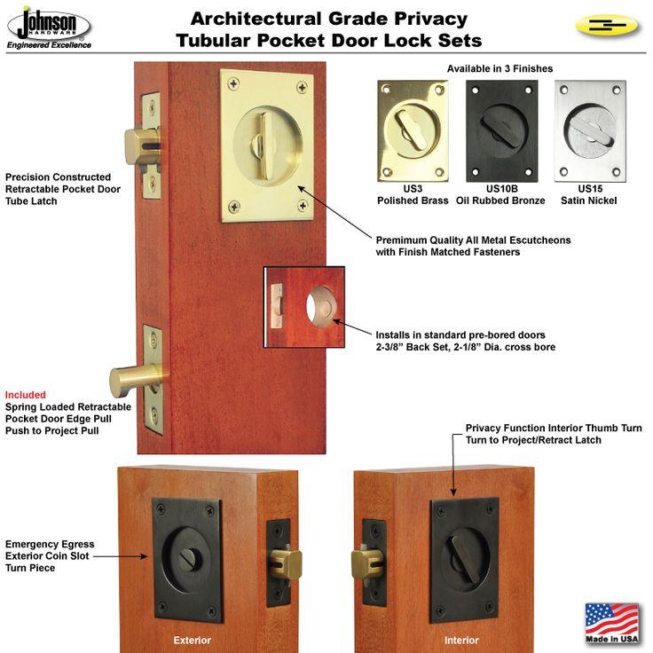 Johnson Hardware® Pocket Door Mortise Locks