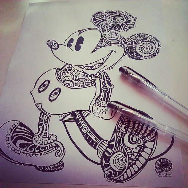 ink mickey drawing