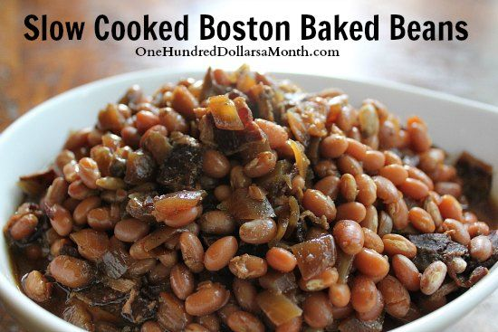 Easy Crock Pot Recipes – Slow Cooked Boston Baked Beans | Slow ...
