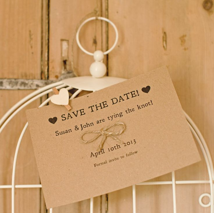 Tie the Knot Recycled Save the Date
