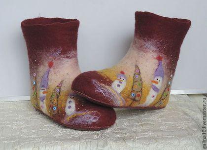 Обувь ручной работы. Ярмарка Мастеров - ручная работа чуни валяные. Handmade.