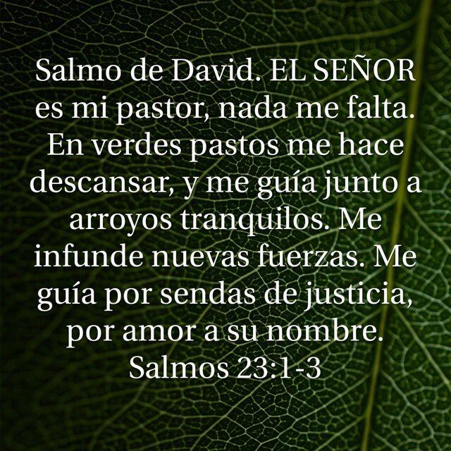 El señor es mi pastor!!