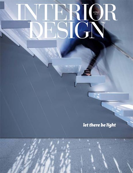 Interior Design October 2014 Cover: A Staircase Of Floating Treads In  Laser Cut Powder
