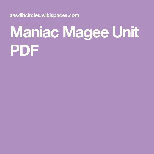 Maniac Magee Unit PDF