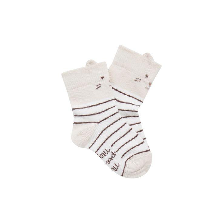 Sergent Major vous propose ces chaussettes garcon ecru pour les 0 à 6 mois du theme De retour a la maison(tr2) de la collection Hiver