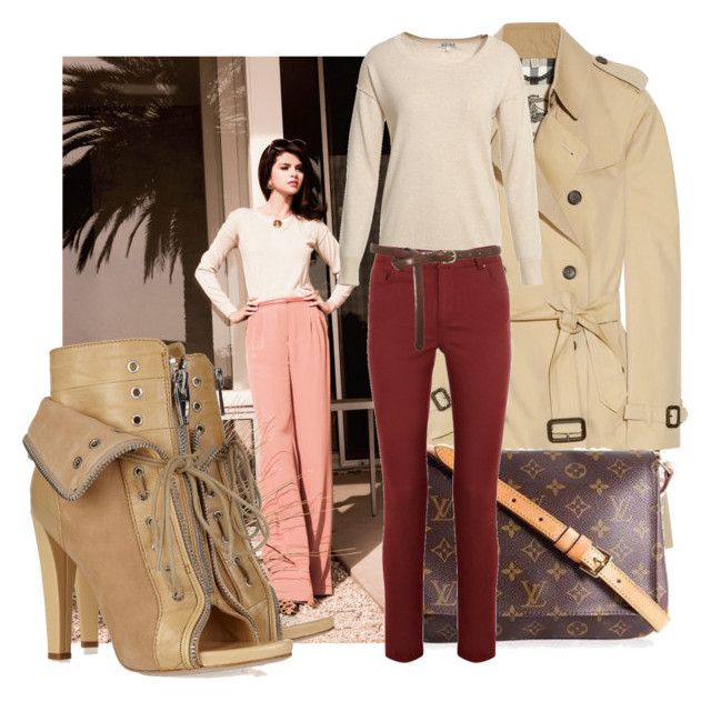 inspired: selena gomez. by vanlan on Polyvore featuring polyvore fashion style Reiss Burberry Alexander Wang Louis Vuitton Oasis clothing