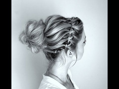 How to: Waterfall braid and Twisted Messy Bun - YouTube... Love It and It's So Easy..Must Do On Myself!
